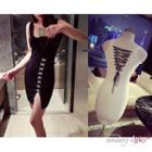 Lace-up Sleeveless Dress