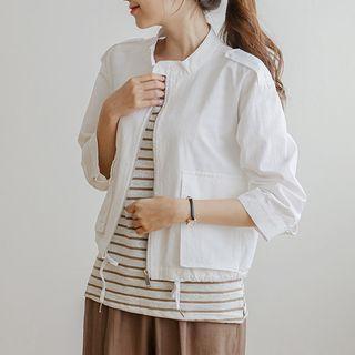 Stand-collar Flap-pocket Jacket