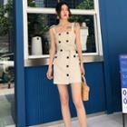 Strappy Striped Mini Dress