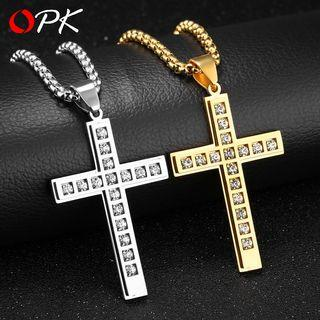 Rhinestone Cross Pendant / Pendant Necklace