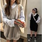 Plain Shirt / Sleeveless Dress