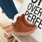 Bow Fleece-lined Short Boots