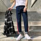 Colour Block Straight Jeans