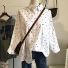 Dotted Shirt White - One Size