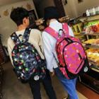 Set: Patterned Shoulder Bag + Backpack