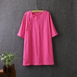 Linen Cotton Short-sleeve Top