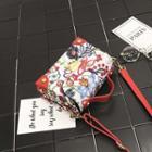 Embroidery Studded Cross Bag