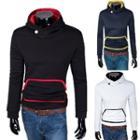Contrast Trim Hooded Sweatshirt
