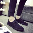 Canvas Flat Lace-up Sneakers