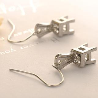 Chair Earrings  Silver - One Size
