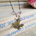 Copper Sweet Bird Beads Necklace