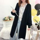 Floral Embroidery Long Cardigan