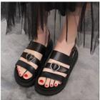 Heart Platform Sandals