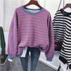 Striped Paneled Pullover