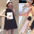 Sleeveless A-line Printed Mini Dress