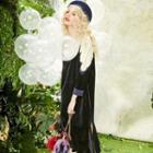 Lace-panel Midi Dress