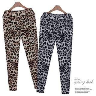 Leopard-print Leggings