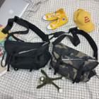 Lettering Buckled Lightweight Crossbody Bag