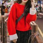 Panel Long-sleeve Sweater