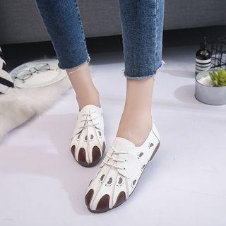 Foot-print Lace-up Casual Shoes