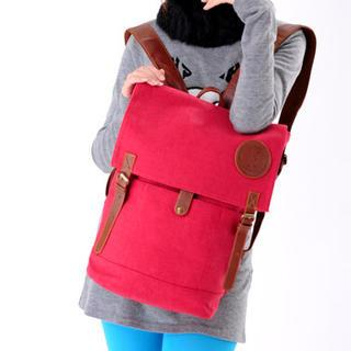 Buckled Canvas Backpack