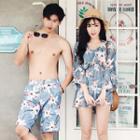 Couple Matching Floral Bikini / Cover Up / Swim Shorts / Set