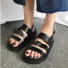 Platform Faux-leather Sandals