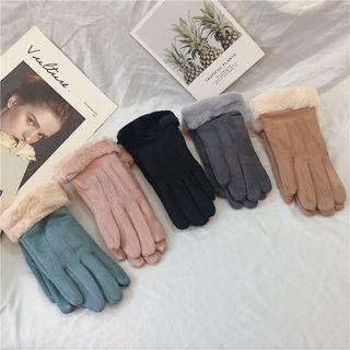 Fleece Trim Gloves