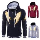 Wing Print Hooded Zip Jacket