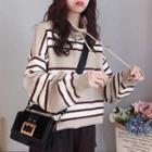 Mock Turtleneck Striped Sweater