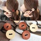 Button Accent Hair Tie