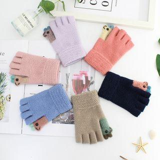 Llama Knit Fingerless Gloves