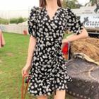 Daisy Printed A-line Dress
