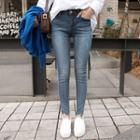 Mid-rise Washed Skinny Jeans