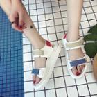 Touch-fastener Platform Sandals