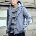 Hooded Side Zip Padded Jacket