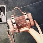 Transparent Lettering Crossbody Bag