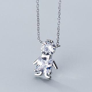 Rhinestone Doll Necklace As Shown In Figure - One Size