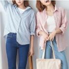 Cotton-linen Plaid Shirt
