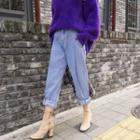 Pleated-front Harem Jeans
