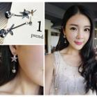 Non-matching Bead Drop Earrings