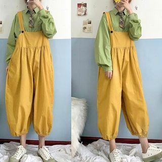Cropped Harem Jumper Pants Yellow - One Size