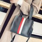 Faux-leather Colorblock Mini Tote With Strap