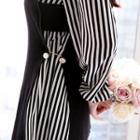Set: Sleeveless Knit Top + Striped Dress