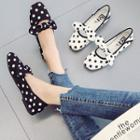 Square Toe Polka Dot Flats