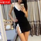 Strappy Lace Trim Bodycon Dress