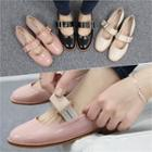 Buckled Patent Mary Jane Flats