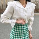 Long-sleeve Lace Ruffle Shirt