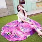 Set: Ruffle Top + Floral Maxi Skirt