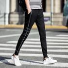 Drawstring Slim-fit Printed Pants